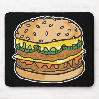 Tapis De Souris rétro hamburger de fromage