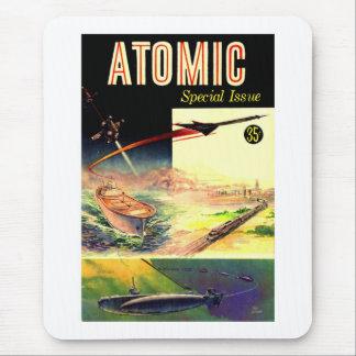 Tapis De Souris Rétro magazine atomique nucléaire vintage des