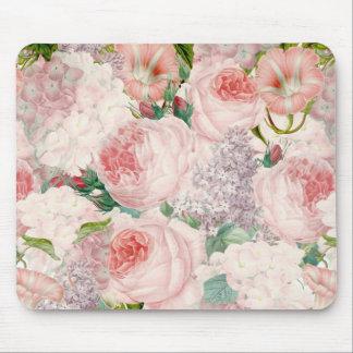 Tapis De Souris Rétro motif Painterly de ressort de fleur de lilas