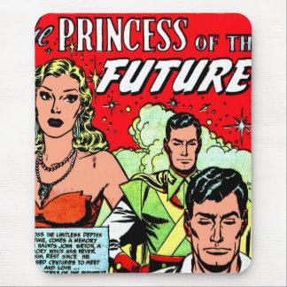 Tapis De Souris Rétro princesse comique vintage de Sci fi de