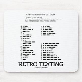 Tapis De Souris Rétro service de mini-messages (code Morse
