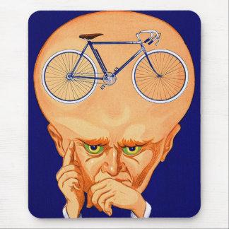 Tapis De Souris Rétro tête vintage de bicyclette de kitsch