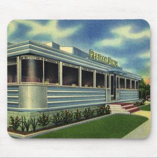Tapis De Souris Rétro wagon-restaurant classique vintage de