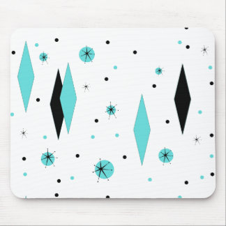 Tapis De Souris Rétros diamants et Starbursts Mousepad de