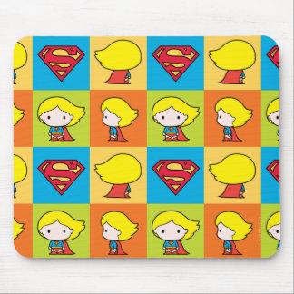 Tapis De Souris Revirement de caractère de Chibi Supergirl