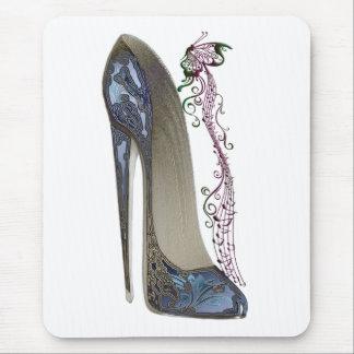 Tapis De Souris Rhapsodie dans l'art stylet bleu de chaussure