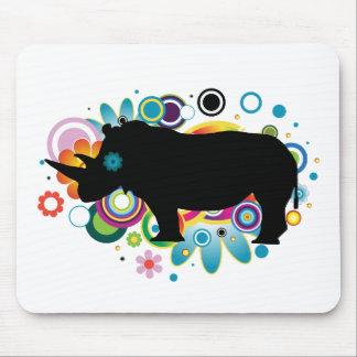 Tapis De Souris Rhinocéros abstrait Mousepad