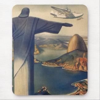 Tapis De Souris Rio de Janeiro vintage, le Christ la statue de