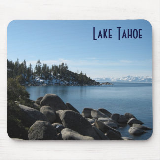 Tapis De Souris Rivage du nord le lac Tahoe, village de pente,