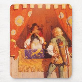 Tapis De Souris Robin Hood vintage rencontre la domestique mariale