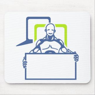 Tapis De Souris Robot androïde tenant le signe vide