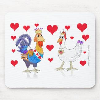 Tapis De Souris Roi de poulet et reine des coeurs