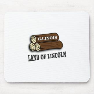 Tapis De Souris Rondins de l'Illinois de Lincoln