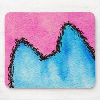 Tapis De Souris Rose Mousepad de minou d'art de bruit