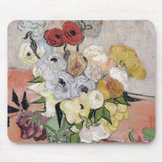 Tapis De Souris Roses de Vincent van Gogh | et anémones, 1890