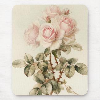 Tapis De Souris Roses romantiques victoriens vintages