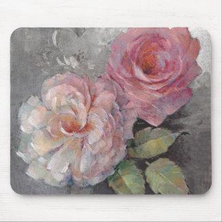Tapis De Souris Roses sur le gris