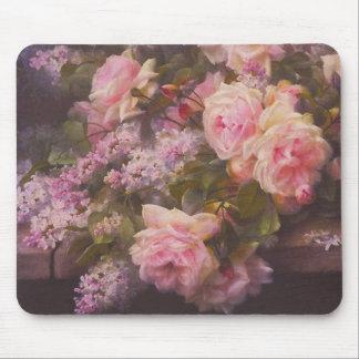 Tapis De Souris Roses victoriens et lilas