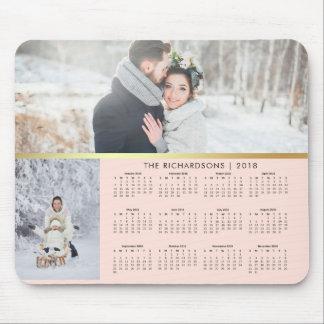 Tapis De Souris Rougissent le rose et le calendrier 2018 de photo