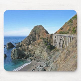 Tapis De Souris Route 1 de côte - grand pont de crique