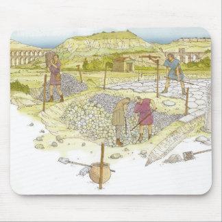 Tapis De Souris Route romaine. Détail
