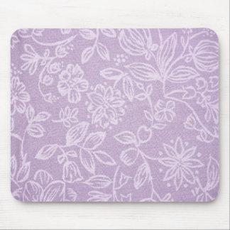 Tapis de souris rustique de conception florale -