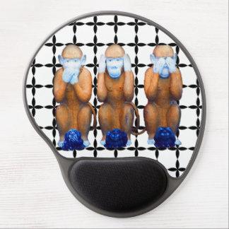 Tapis de souris sage de trois singes