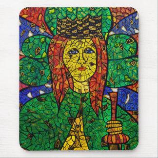 Tapis De Souris Saint patron de St Dymphna de dépression et