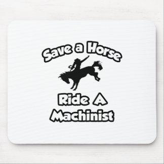 Tapis De Souris Sauvez un cheval, montez un machiniste