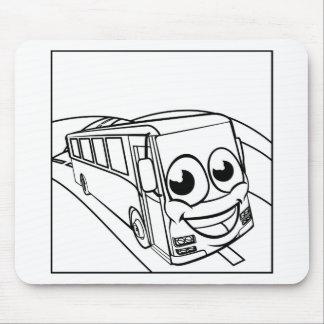 Tapis De Souris Scène de mascotte de personnage de dessin animé