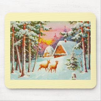 Tapis De Souris Scène de neige