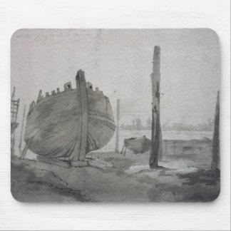 Tapis De Souris Scène de rivière de John Constable | avec le
