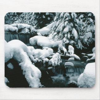Tapis De Souris Scène stupéfiante d'hiver