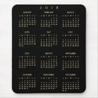 Tapis De Souris Siège social du calendrier 2018 de Faux de noir