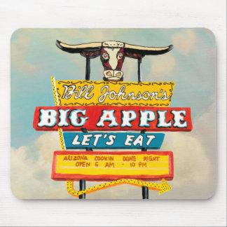 Tapis De Souris Signe américain de restaurant du bord de la route