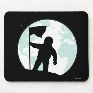 Tapis De Souris Silhouette d'astronaute