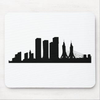 Tapis De Souris Silhouette de paysage urbain