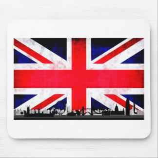 Tapis De Souris Silhouette d'horizon de Londres