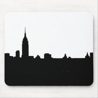 Tapis De Souris Silhouette noire et blanche de New York
