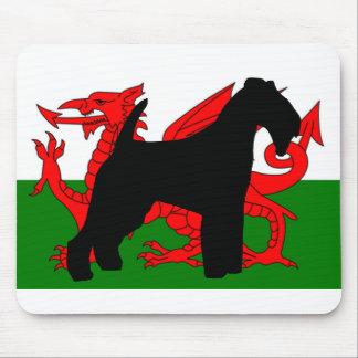 Tapis De Souris silhouette Pays de Galles flag.png de terrier de