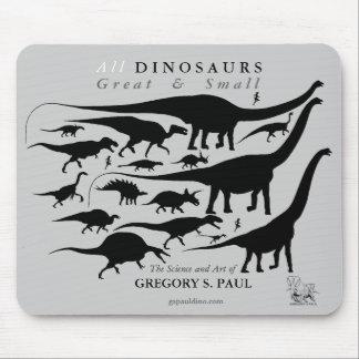 Tapis De Souris Silhouettes Mousepad Gregory Paul de dinosaures