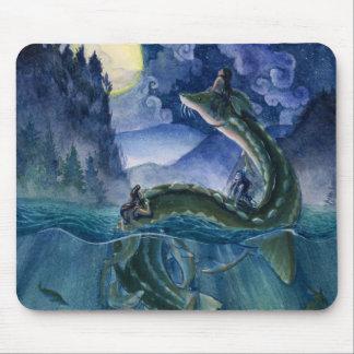 Tapis De Souris Sirènes et serpent Mousepad de rivière