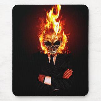 Tapis De Souris Skull on fire