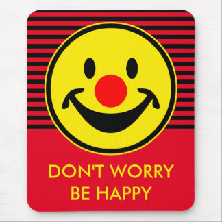 Tapis De Souris Smiley rouge de nez - jaune + vos idées