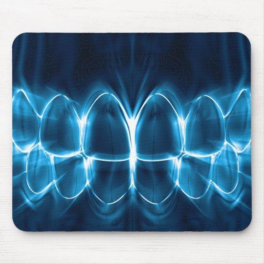 tapis de souris sourire rougeoyant bleu mousepad de dents de. Black Bedroom Furniture Sets. Home Design Ideas