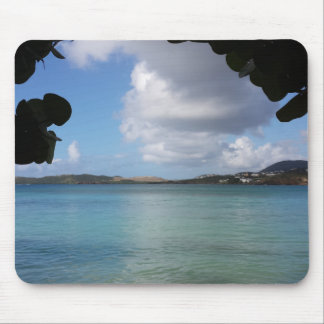 Tapis De Souris Sous le raisin de mer avec la vue d'océan de