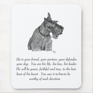 Tapis De Souris Souvenir de Terrier d'écossais - MÂLE