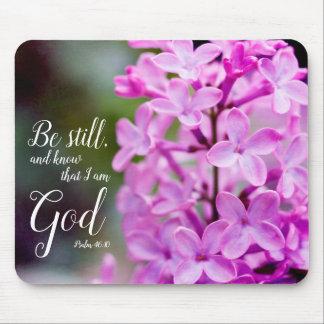 Tapis De Souris Soyez toujours les fleurs lilas pourpres de 46:10