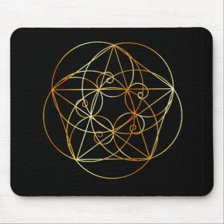 Tapis De Souris Spirale de Fibonacci la géométrie sacrée