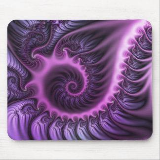 Tapis De Souris Spirale pourpre d'art de fractale de résumé de